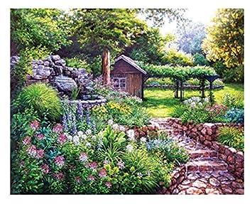 Cottage House DIY Diamond Painting Mosaic Kit Picture