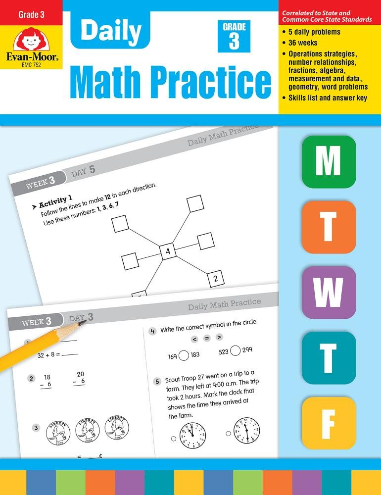 Amazon.com: Evan-Moor Daily Math Practice, Grade 3 - Teacher\'s ...