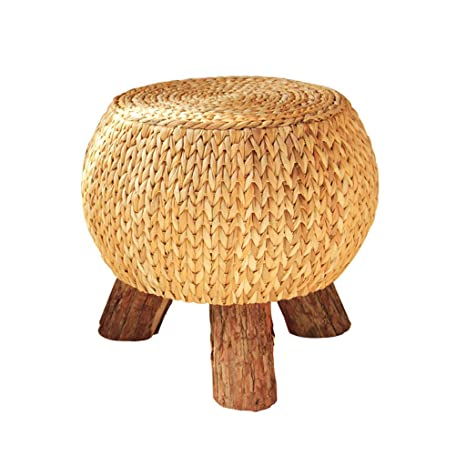Admirable Amazon Com Syf Footstool Fashion Creative Shoes Stool Straw Gamerscity Chair Design For Home Gamerscityorg
