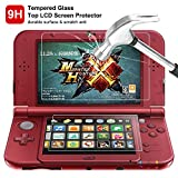 Screen Protector for Nintendo NEW 3DS XL, AFUNTA 4 Pcs Tempered Glass for Top Screen and HD Clear Crystal PET Film for Bottom Screen, 3DSXL Film Accessory