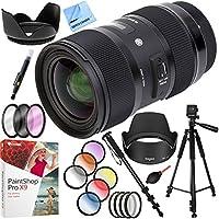Sigma AF 18-35MM F/1.8 DC HSM ART Lens for Sony SLR Mount Plus 72mm Filter Sets and Accessories Bundle