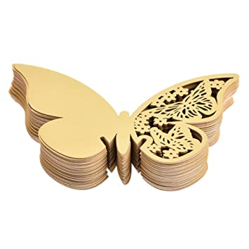 Amazon.com: AKOAK Pearlized Paper Butterfly Table Number Place Card ...