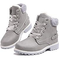 Botas Mujer Invierno Botas de Nieve Cálido Zapatos Botines Forradas Planas Snow Boots Antideslizante Calzado Comodos…