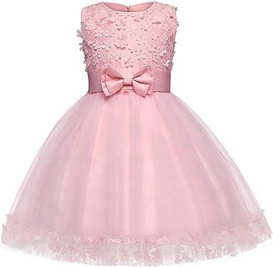 AmzBarley Robe de Soirée Fille Enfant Princesse