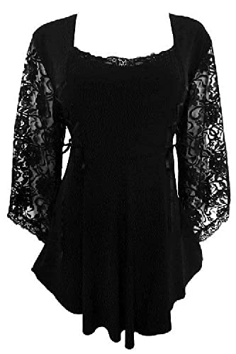 Steampunk Tops | Blouses, Vests, Crops, Shrugs Dare To Wear Renaissance Victorian Gothic Hippy Top Shirt Blouse Plus $59.99 AT vintagedancer.com