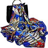 43'' 16 momme 100% Silk Satin Thick Luxury Big Square Neck Head accessory Wrap Shawl Scarf handbag scarf (05)