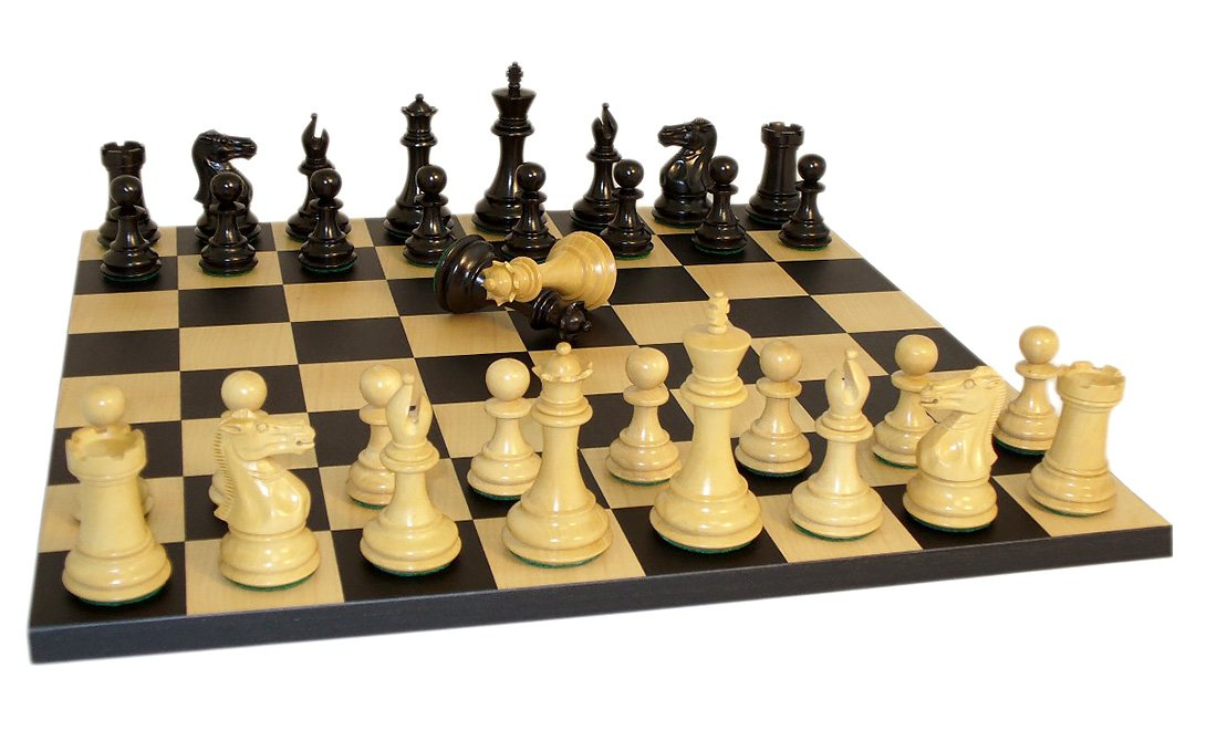 Worldwise Black Exclusive Double Queens Chess Set 3 1 2 Inch Kings