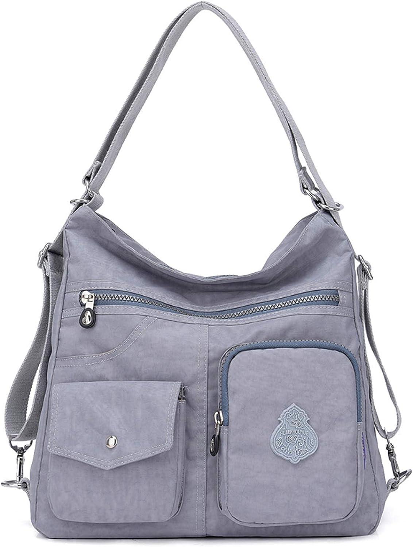 Outreo Mujer Bolsos de Moda Impermeable Mochilas Bolsas de Viaje Bolso Bandolera Sport Messenger Bag Bolsos Mano para Tablet Escolares Nylon