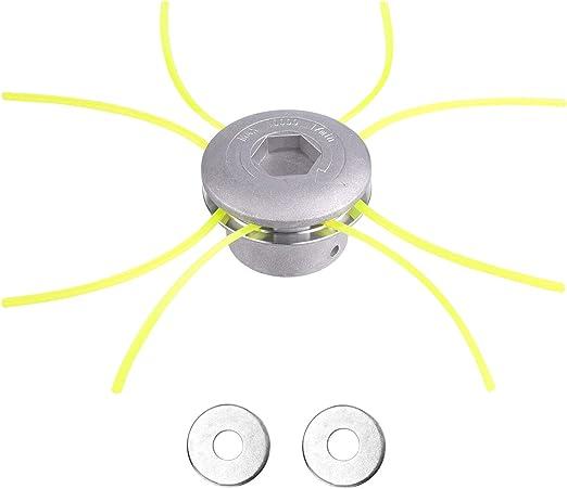 FEPITO Cabezal Desbrozadora de Aluminio Universal con Repuestos(M8, M10): Amazon.es: Jardín