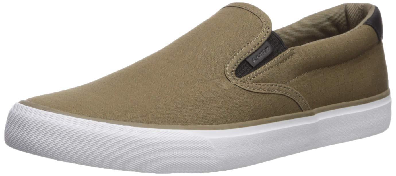 Lugz Men's Clipper Shoe, Dk Olive/Black/White/Gum, 11 D US