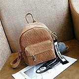YDIDOD Women Mini Corduroy Backpack Teenagers Cute Backpack with Fuzzy Ball Children Small Shoulder Bags Female Travel Bags