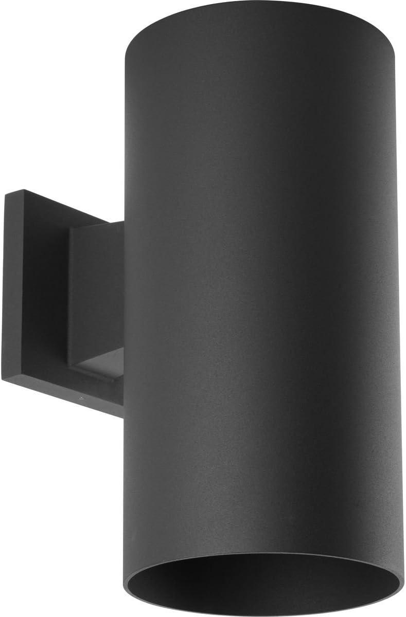 Progress Lighting P5641-31 Cylinder Outdoor, 6-Inch Width x 12-Inch Height, Black