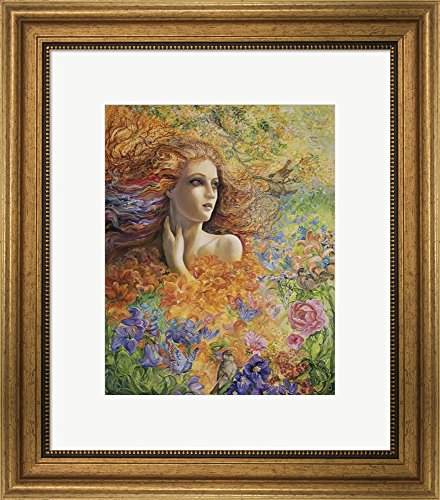 Summer Breeze Framed - Summer Breeze by Josephine Wall Framed Art Print Wall Picture, Wide Gold Frame, 18 x 20 inches
