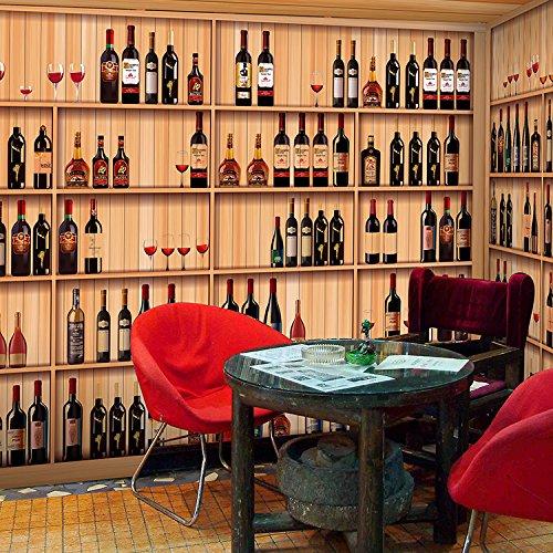 400 Wine Racks - Lwcx Western Restaurant Bar Cafe 3D Wallpaper Wine Rack 400X280CM