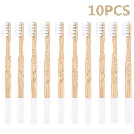 Cepillo de dientes de bambú, cuidado dental natural para toda la familia, biodegradable,
