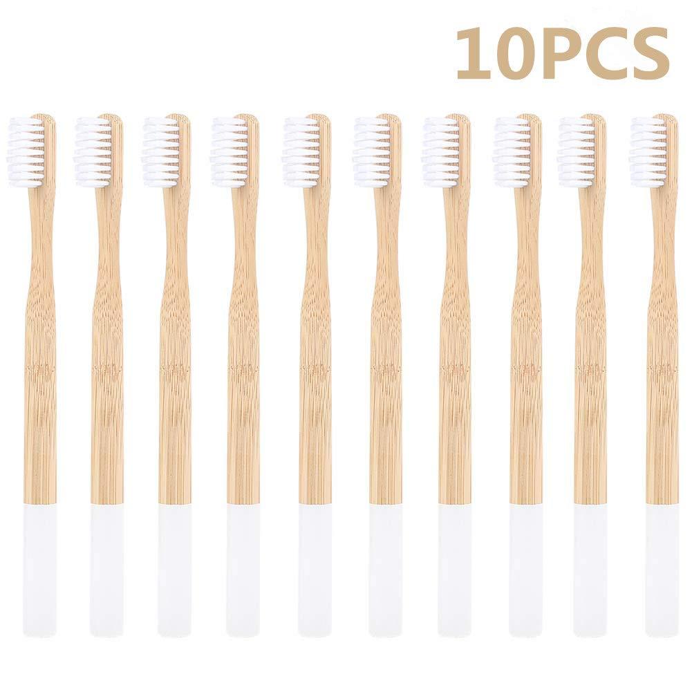 Bamboo Toothbrush - Eco Friendly Biodegradable BPA Free Medium Charcoal Bristles Vegan Natural Product Toothbrushes