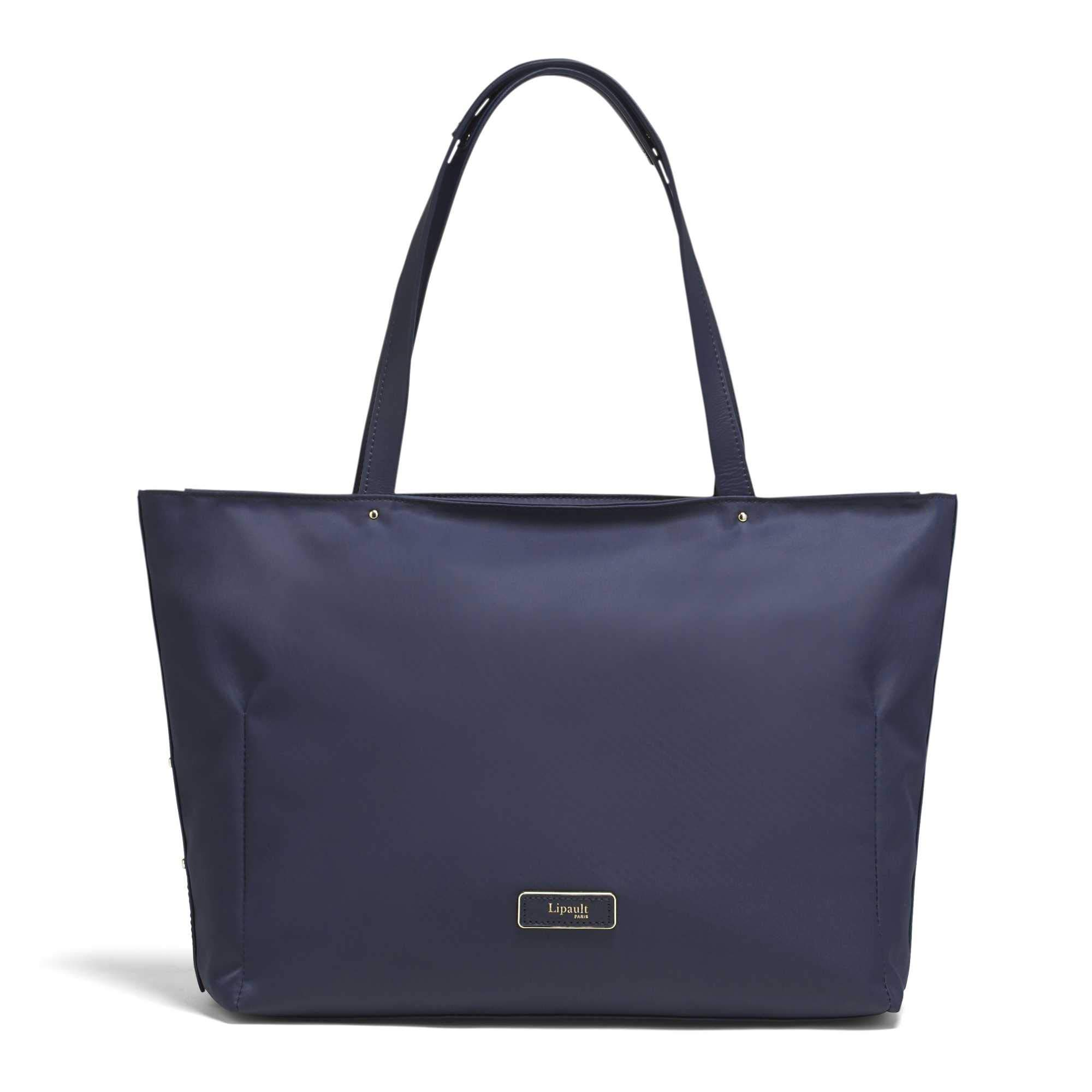 Lipault - Business Avenue Laptop Tote Bag - Top Handle Shoulder Handbag For Women - Night Blue, Medium by Lipault (Image #1)