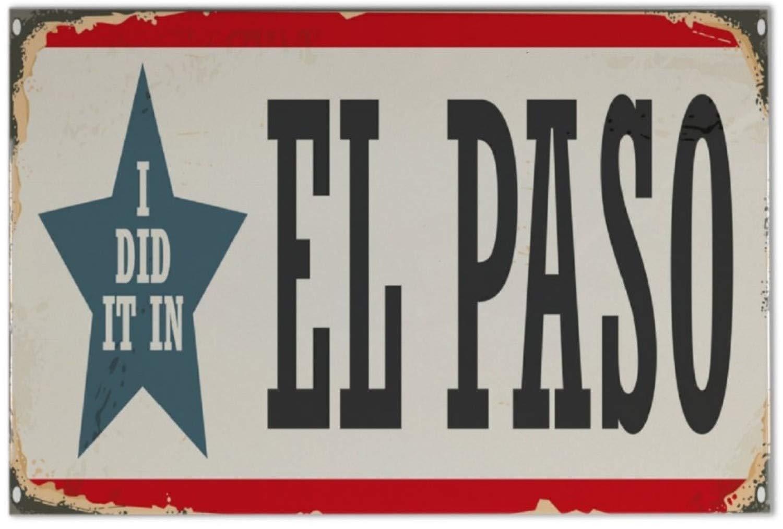 Azulejo Ciudad El Paso USA Ceramica impreso 20x30 cm Leotie GmbH