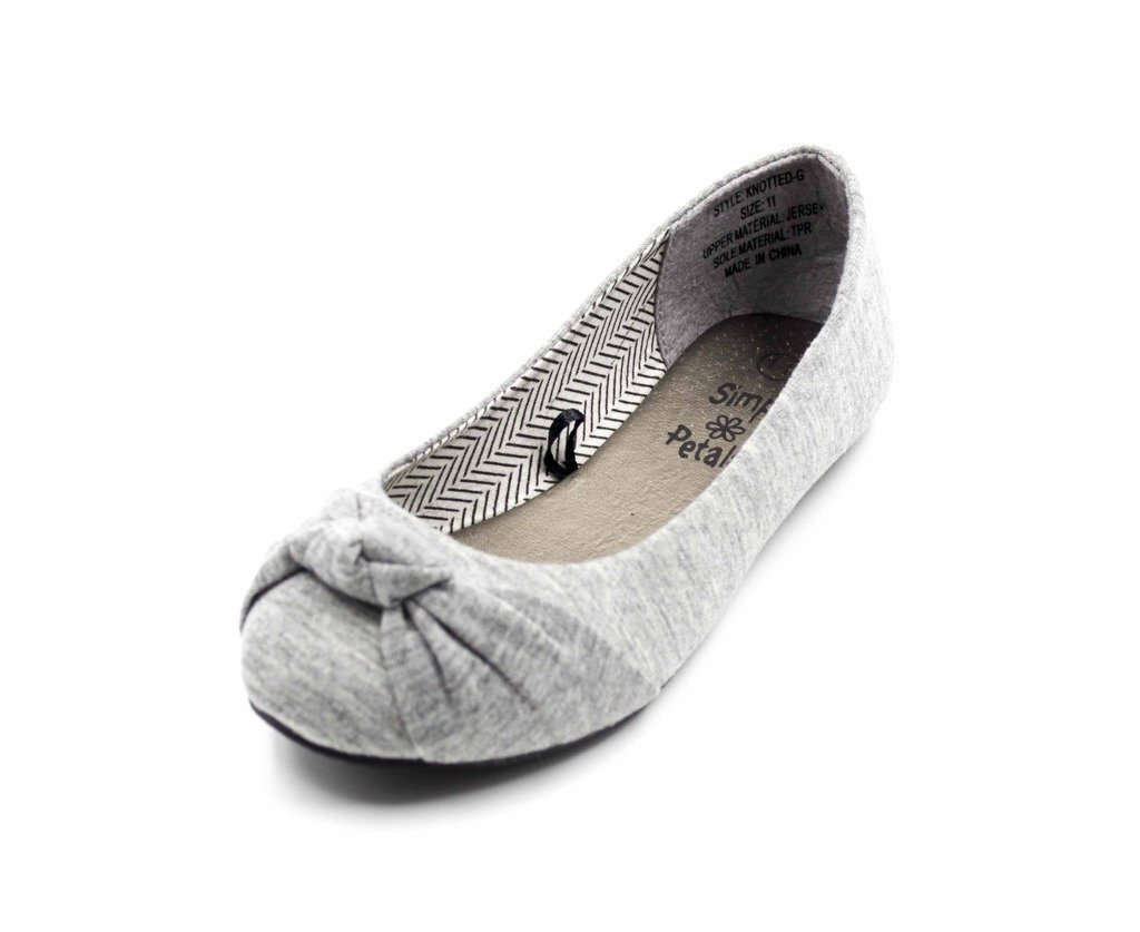 Simply Petals Casual Slip On Knotted Ballerina Flat (Toddler/Little Girl) New in Grey Size: 2 Little Kid M
