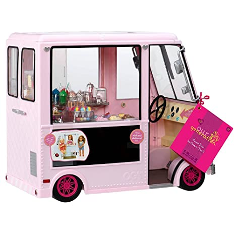 Our Generation 44718 Sweet Stop - Camión de Helado para muñecas