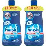 Finish Jet-Dry Dishwasher HbMnC Rinse Aid Agent, 210 washes, 23 oz, Removes Spots, Glass Protection, 23 oz (2 Pack)