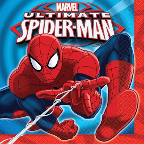 Spiderman Luncheon Napkins - Birthday and Theme Party Supplies - 16 Per Pack