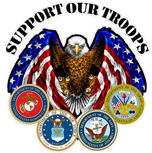Nostalgia Decals Support Our Troops 10