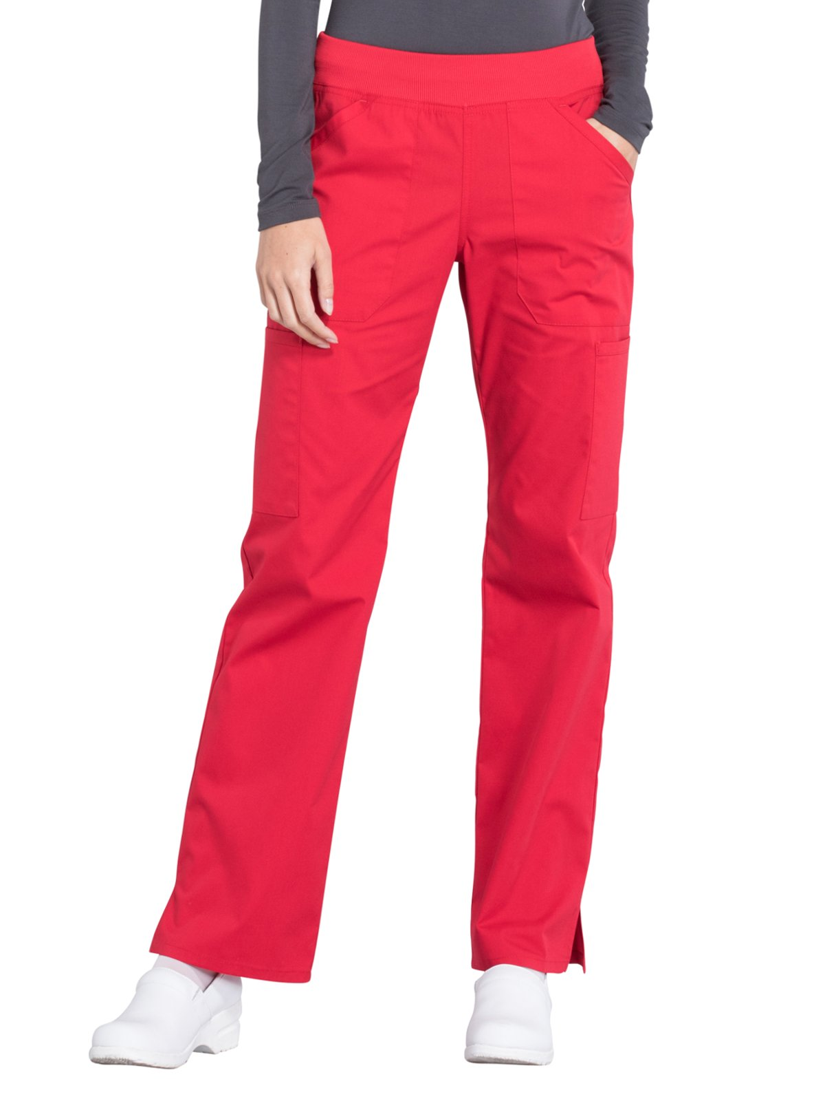 Cherokee Workwear Professionals WW170 Cargo Pant- Red- X-Large