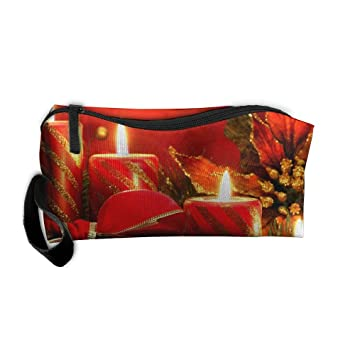 425e6ee91b Image Unavailable. Image not available for. Color  Yangllll Red Pillar  Candles Portable Cosmetic Makeup Bag ...