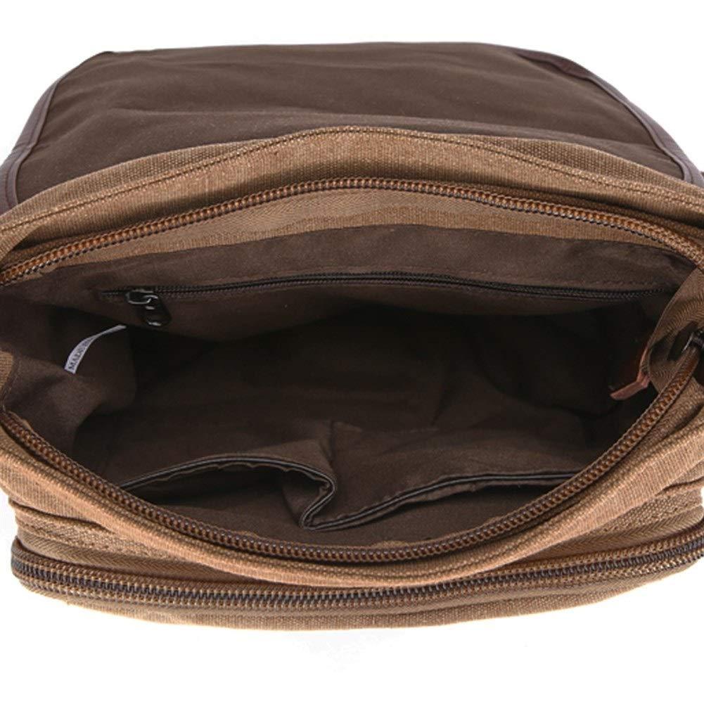 Color : Black Single Shoulder Canvas Bag Recreational Bags Shoulder Messenger Bags Men and Women General Canvas Bags Korean Fashion Trend