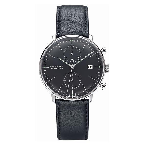 Junghans Max Bill Chronoscope 027/4601.00 - Reloj cronógrafo automático para hombre, correa de