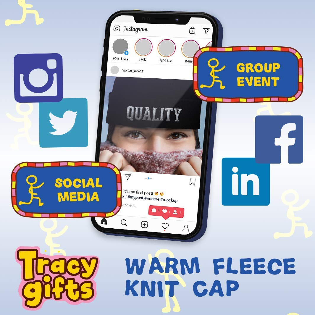Beanie Skull Cap with Fleece Liner Tracy Gifts got Ferrao?