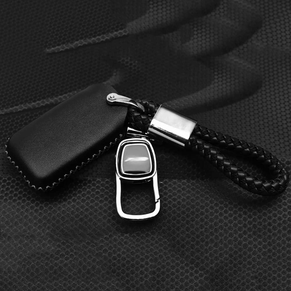 Car Key Case Cover Genuine Leather 4 Button Black Key Fob Cover Case for 2017 Honda CRV