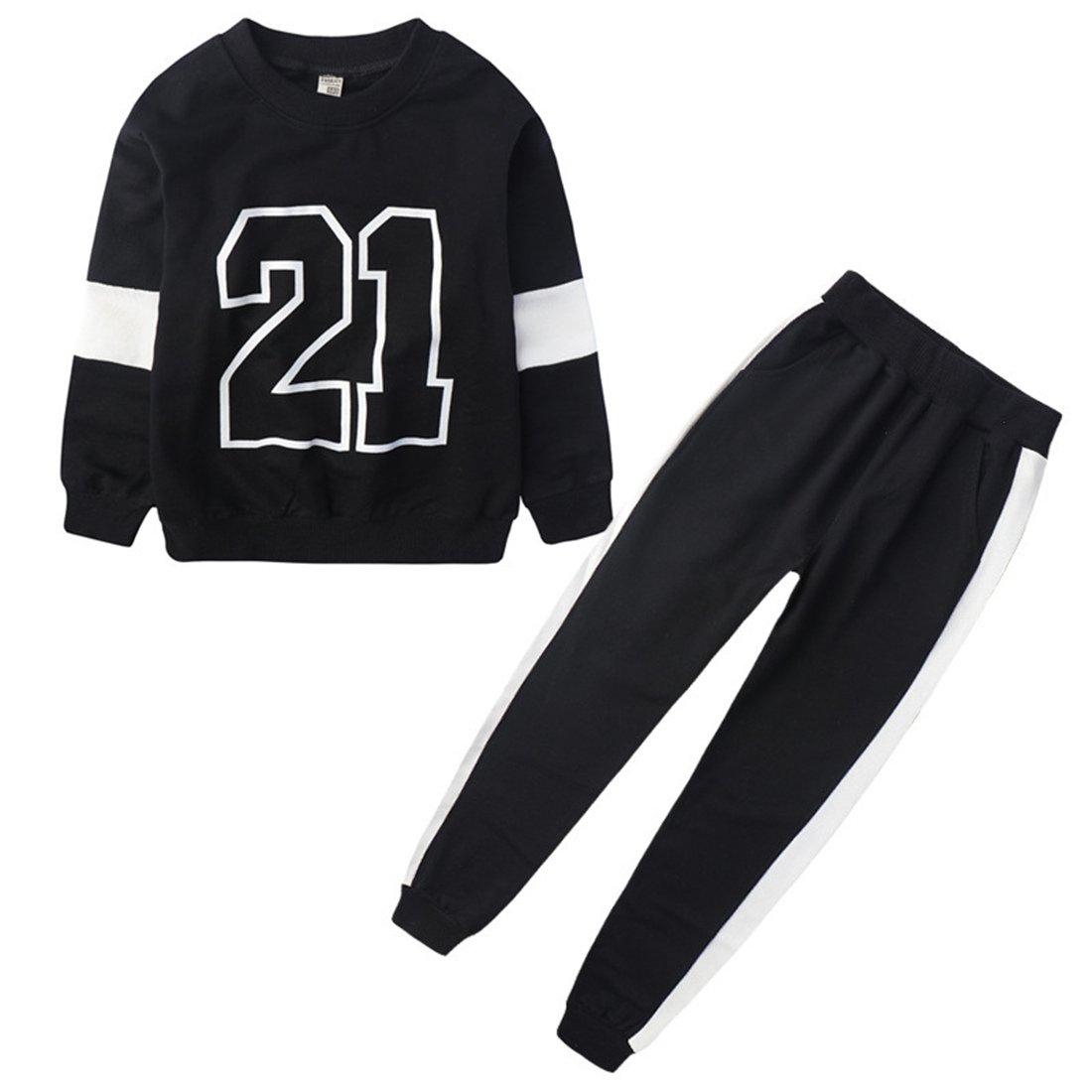 MV Girls Sweater Pants Digital Autumn Large Two Pieces Set