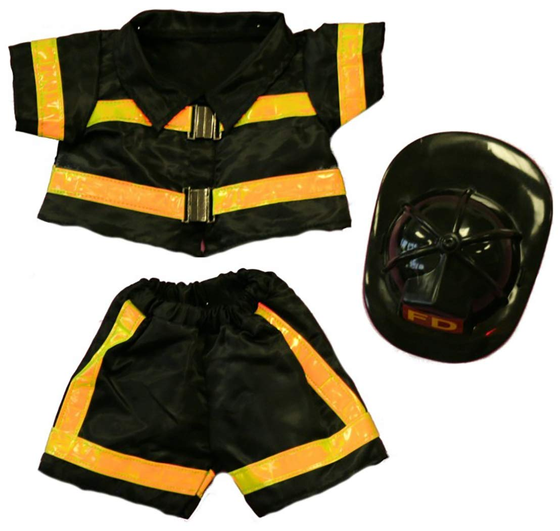 "B006PV207Y Fireman Outfit Teddy Bear Clothes Fits Most 14"" - 18"" Build-a-bear and Make Your Own Stuffed Animals 61cggSpvC2L"