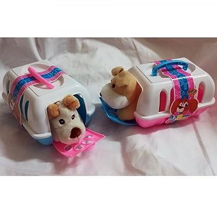 TrAdE shop Traesio- Transportín a Spasso Puppy Cesta con Peluche Perro Perro Caseta Juegos Niños