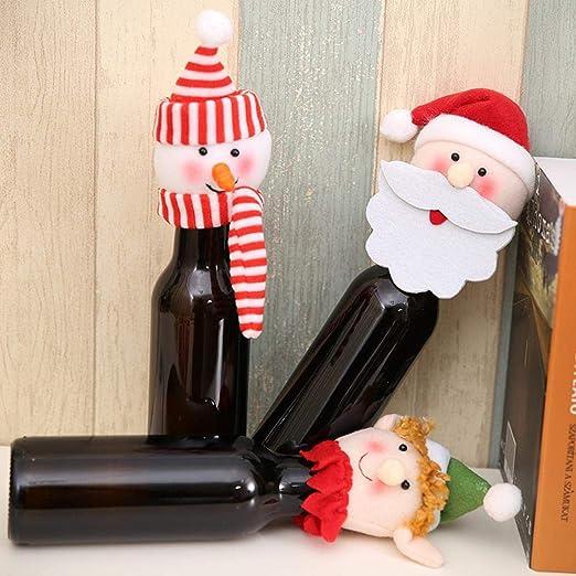 Gfone Interesante Que Reutilizables Navidad Vino Botella Decorativa Cover Set Cestas & - Tirantes: Amazon.es: Jardín