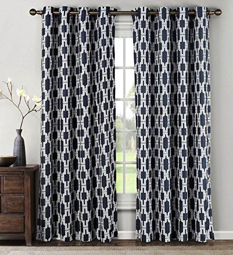 Window Treatments Ideas (Window Elements  Wesley Linen Blend Extra Wide 108 x 84 in. Grommet  Curtain Panel Pair, Navy)