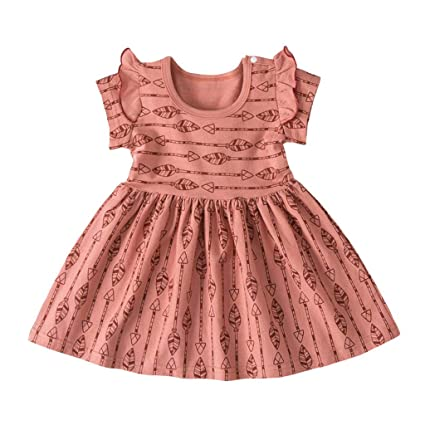 Toddler Cartoon Baby Girls Summer Sleeveless Dress Kids Party Princess Dresses