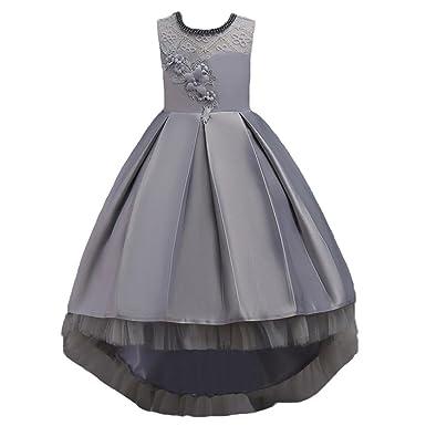 4f5d3c954c5 Dinlong Newborn Infant Toddler Girls Sleeveless Flower Lace Princess Dress  Formal Tailor Dress Wedding Bridesmaid Pageant