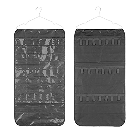 Amazoncom Dual Sides NonWoven Clear Hanging Jewelry Storage Bags