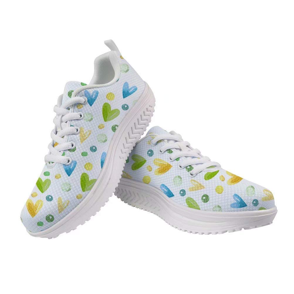 Spring Warner Heart//Star//Bear//Line Print Sneakers Personalized Design Walking Shoes Casual Women Lightweight Breathable Non-Slip Shoes ERU36-41