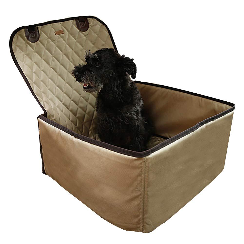 Flesh Multi-Function Car Pet Box Pet Travel Waterproof Nylon Heightening Thickening Single Seat Bracket Predective Cover,Flesh