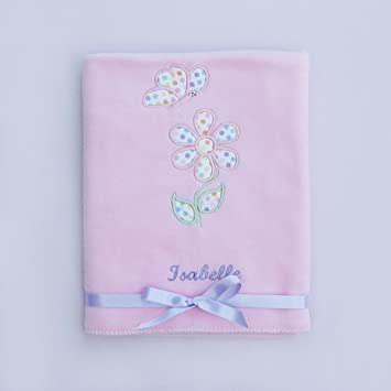 Personalised baby blanket featuring dotty daisy design baby personalised baby blanket featuring dotty daisy design baby gift negle Choice Image