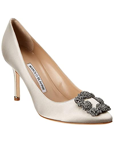 9bc7b9b20cc1 Image Unavailable. Image not available for. Color  Manolo Blahnik Hangisi 70  Satin Pump ...