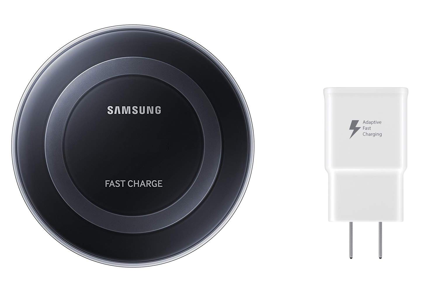 Samsung Qi Certified Fast Charge Wireless Charging Pad with 2A Wall Charger -Supports wireless charging on Qi compatible smartphones including the Samsung Galaxy S8, S8+, Note 8, Apple iPhone 8, iPhone 8 Plus, and iPhone X (US Version) - Black by Samsung
