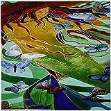 3dRose ct_46759_4 Mermaid and Butterflies-Elusive, Untamed, Art Nouveau, Femininity, Mythology, Butterflies, Mermaid-Ceramic Tile, 12-Inch