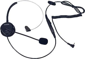 Coodio Teléfono fijo inalámbrico DECT Auriculares [conmutador de silencio] [Control de Volumen] Auricular con Micrófono [Cancelación de Ruido] Para Panasonic Gigaset Teléfono con 2,5mm Jack: Amazon.es: Electrónica