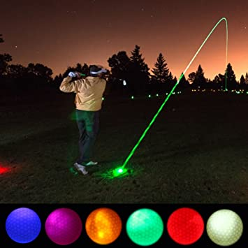 Vbestlife 4/5/6Pcs Noche Pelotas de Golf Led Light-Up Pelotas de ...