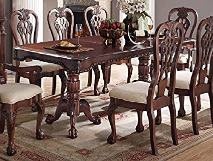 Strange Amazon Com Marilena Cherry Wood Dining Table By Poundex Gmtry Best Dining Table And Chair Ideas Images Gmtryco